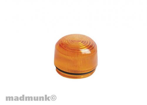 2PC LAMP REPAIR SET ORANGE LENS& RUBBER GASKET