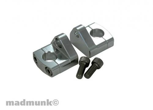 CNC HANDLE BAR RISER NEW STYLE SILVER