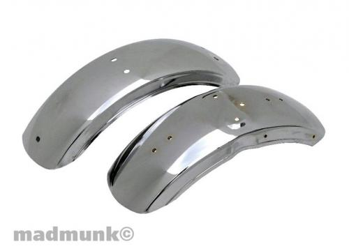 CHROME FENDERS DX FRONT FENDER WITH HOLES FOR BRACKET