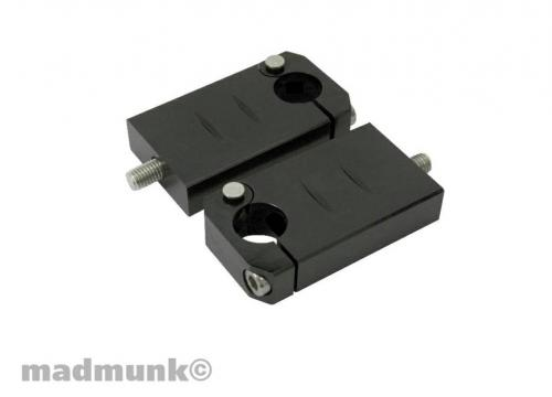 CNC BLACK 75MM ALLOY BAR CLAMPS