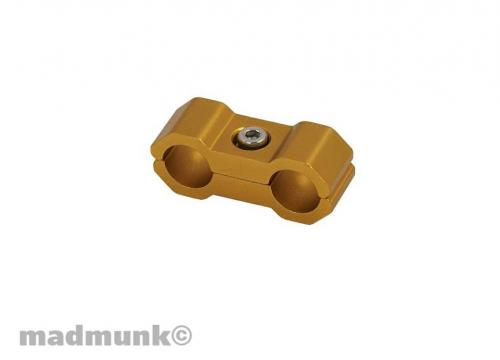 CABLE CLAMP 6MM GOLD