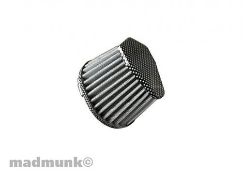AIR FILTER OVAL 35MM CARBON LOOK