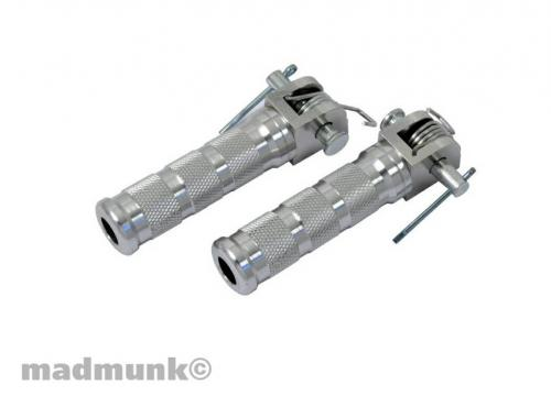 DX MUNK LARGE ALLOY FOOT PEGS WITH FITTINGS