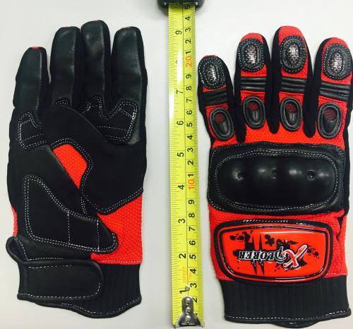 RED KNUCKLE GLOVE LARGE ( SIZE 10)