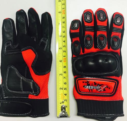 RED KNUCKLE GLOVE EXTRA SMALL
