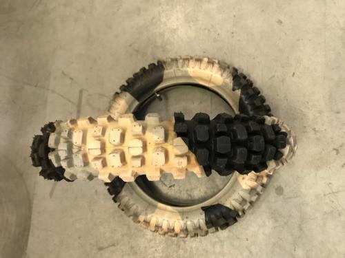 PITBIKE CAMO TIRE WITH INNERTUBE 2.50-14