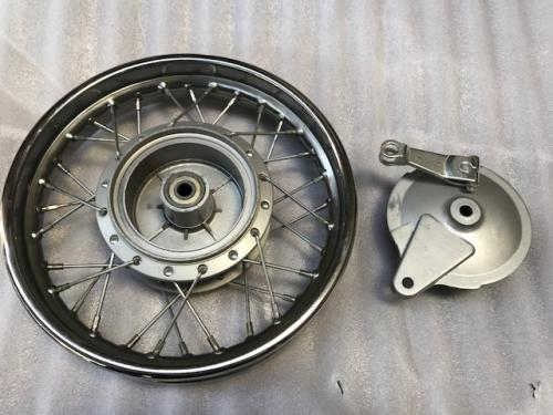 12in rear drum chrome metal spoke rim 1.85-12