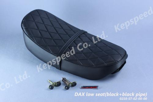 KEPSPEED LOW DX SEAT WITH DIAMOND PATTERN BLACK WITH BLACK PIPING