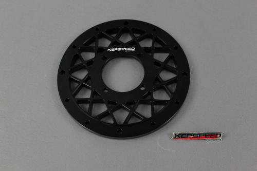 CNC CENTRE PLATE FOR KEPSPEED 10 IN RIMS IN BLACK