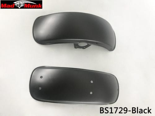 DX NEW STYLE ROLLED EDGE IN BLACK FENDER SET