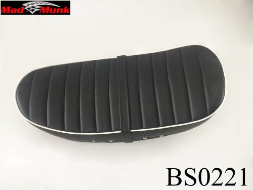 DX LOW SEAT BLACK WITH WHITE PIPING AND RIB PADDING