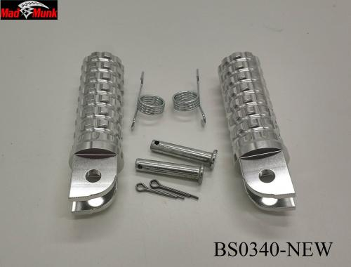ALLOY FOOT PEGS NEW DESIGN IN ALLOY COLOUR