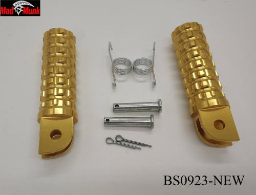 ALLOY FOOT PEGS NEW DESIGN IN GOLD COLOUR