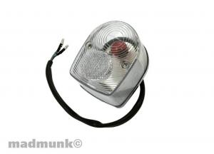 CHROME BACKING REAR LIGHT CLEAR