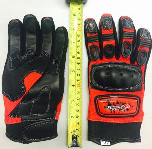 RED KNUCKLE GLOVE SMALL ( SIZE 8)