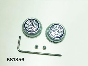 N.G.U. PRODUCTS CNC NUT COVERS SILVER WITH BLACK LOGO