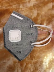 MASK WITH BREATH VALVE GREY FFP2 KN95
