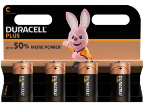 DURACELL PLUS POWER - C PACK OF 4